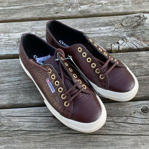 Superga NWT Embossed Lace Up Sneakers